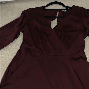 Long sleeve flow dress